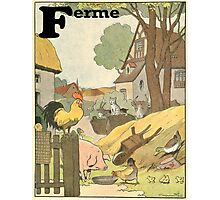 F is for Ferme - French Alphabet Animals Photographic Print