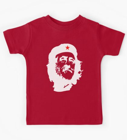 CORBYN, Comrade Corbyn, Leader, Labour Party, Politics, White on RED Kids Tee