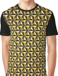 Golden triangles background Graphic T-Shirt