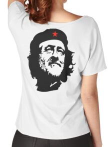CORBYN, Comrade Corbyn, Leader, Polytics, Labour Party, Black on White Women's Relaxed Fit T-Shirt