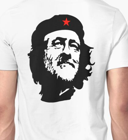 CORBYN, Comrade Corbyn, Leader, Politics, Labour Party, Black on White Unisex T-Shirt