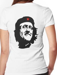 CORBYN, Comrade Corbyn, Leader, Politics, Labour Party, Black on White Womens Fitted T-Shirt