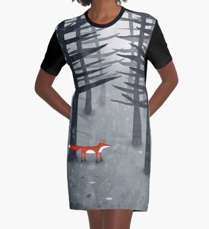 The Fox and the Forest Graphic T-Shirt Dress