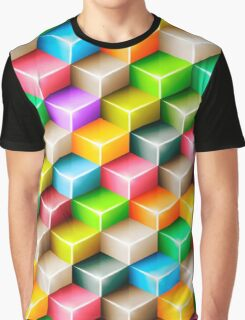 Colorful polygons Graphic T-Shirt