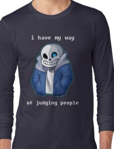 Sans Judgmental Long Sleeve T-Shirt