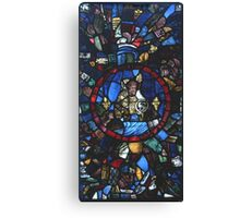 13 century leaded glass Canvas Print