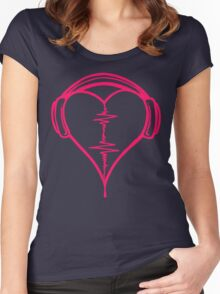 Heart Beat Music Spectrum Women's Fitted Scoop T-Shirt