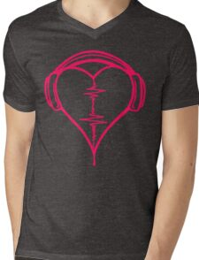 Heart Beat Music Spectrum Mens V-Neck T-Shirt