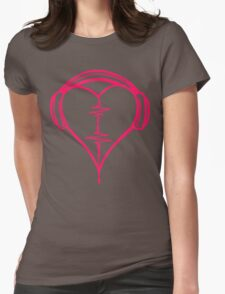 Heart Beat Music Spectrum Womens Fitted T-Shirt