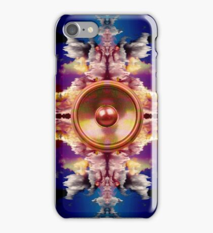 Music speaker on a fantasy background iPhone Case/Skin