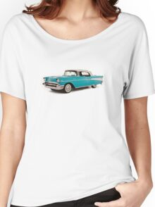 vintage chevrolet blue   Cars Women's Relaxed Fit T-Shirt