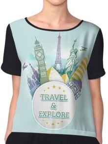 Travel & Explore Chiffon Top