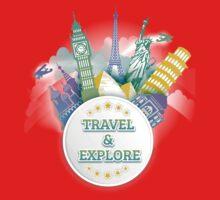 Travel & Explore Kids Tee