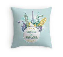 Travel & Explore Throw Pillow