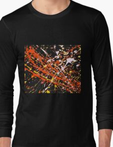 Waves - Warm (Abstract, 4 of 6) Long Sleeve T-Shirt