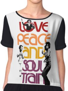 Love, Peace And Soul Train Chiffon Top