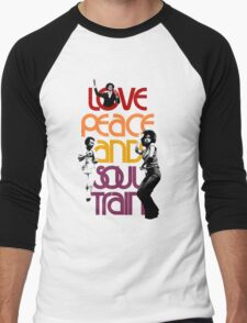 Love, Peace And Soul Train Men's Baseball ¾ T-Shirt