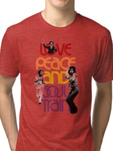 Love, Peace And Soul Train Tri-blend T-Shirt