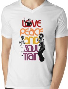 Love, Peace And Soul Train Mens V-Neck T-Shirt