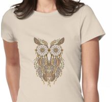 Dreamcatcher Owl Womens Fitted T-Shirt