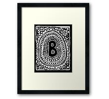 Initial B Black and White Framed Print