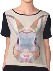 Rabbit Hare Animals Gift Chiffon Top
