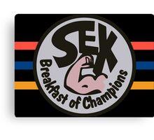 JAMES HUNT SEX BREAKFAST CHAMPIONS F1 Canvas Print