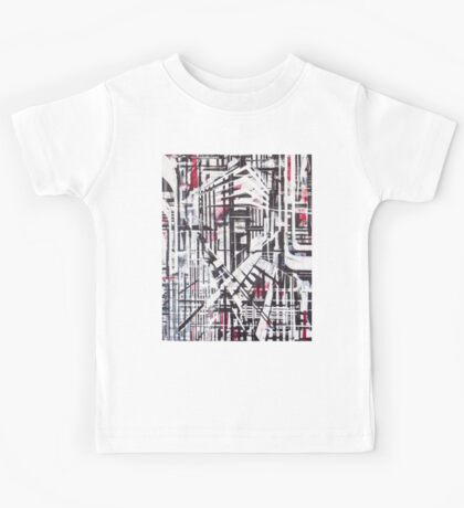 Lines Black and Red Kids Tee