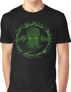 In his house at R'lyeh dead Cthulhu waits dreaming GREEN Graphic T-Shirt