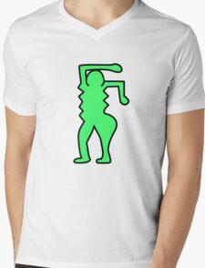 Keith Haring Inspired Pop Art Pattern Mens V-Neck T-Shirt