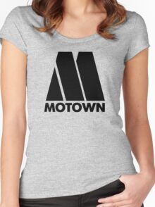 MOTOWN DISCO RECORDS Women's Fitted Scoop T-Shirt