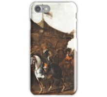 Painting Encampment motif, oil, The Netherlands, 17th-18th Century, iPhone Case/Skin