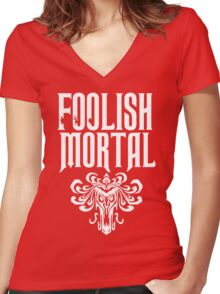 Foolish Mortal Tribal Women's Fitted V-Neck T-Shirt