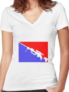 Major League Quickscoper Women's Fitted V-Neck T-Shirt