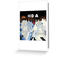 Kid A Pixel Art Greeting Card