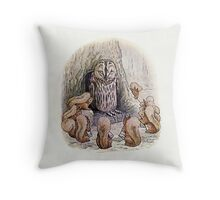 Red Squirrels on Owl Island Throw Pillow
