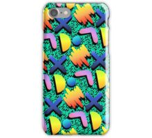1980s Turquoise Print  iPhone Case/Skin