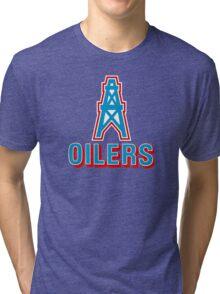 HOUSTON OILERS FOOTBALL RETRO (1) Tri-blend T-Shirt