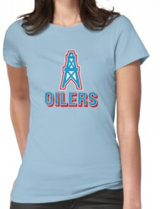 HOUSTON OILERS FOOTBALL RETRO (1) Womens Fitted T-Shirt