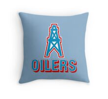 HOUSTON OILERS FOOTBALL RETRO (1) Throw Pillow