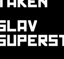 Slav superstar sticker Sticker