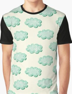 Clouds shabby seamless pattern Graphic T-Shirt