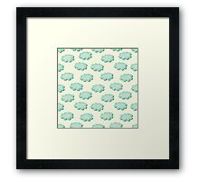 Clouds shabby seamless pattern Framed Print