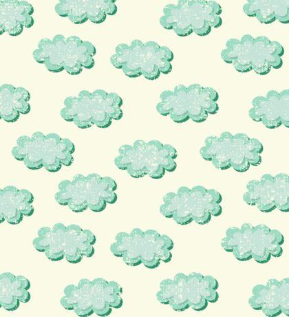 Clouds shabby seamless pattern Sticker