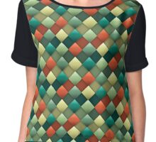 Colored rhombus pattern Chiffon Top