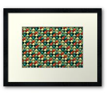 Colored rhombus pattern Framed Print
