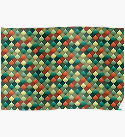 Colored rhombus pattern Poster