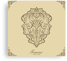 Gemini gold Canvas Print