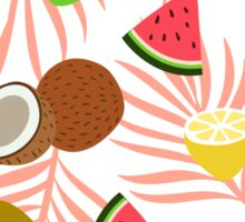 Exotic fruits pattern Sticker