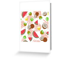 Exotic fruits pattern Greeting Card